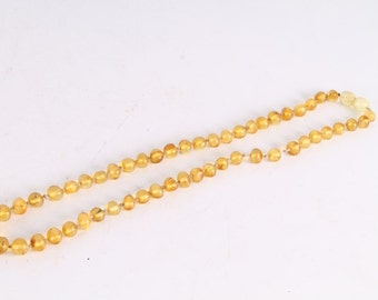 Antique Vintage Natural Baltic Amber Beads Necklace.