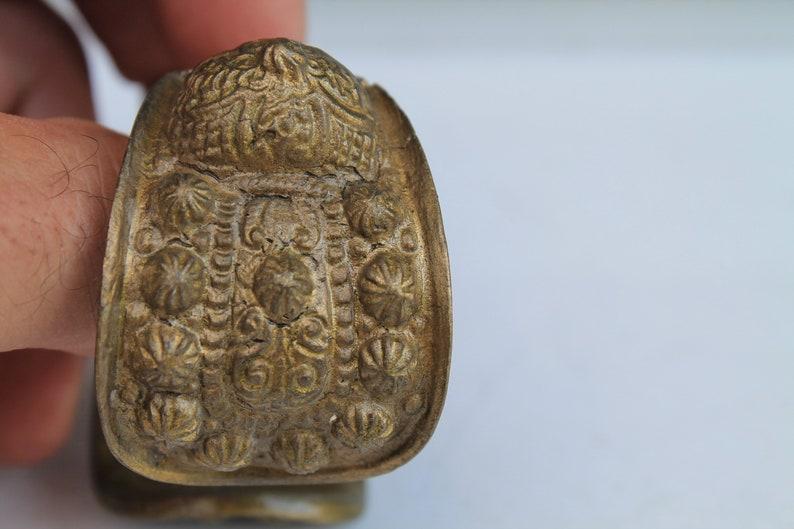 Antique Authentic Byzantium Bronze Cuff Bracelet  19century