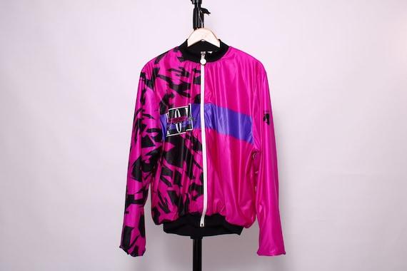 DESCENTE : pink statement jacket - size Large - ma