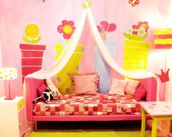 Schmetterling Betthimmel Baldachin /Bed Für Mädchen /Bed Zelt /Kids Bett  Baldachin /Play Zelt /Reading Winkel /Nursery Dekor/Baby Shower Geschenk  /Custom ...