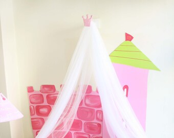 Prinzessin Betthimmel /Bed Baldachin Für Mädchen/Bett Zelt /Kids Bett  Baldachin/Spielzelt/lesen Winkel /nursery  Dekor/Baby Dusche Geschenk /custom Bestellen