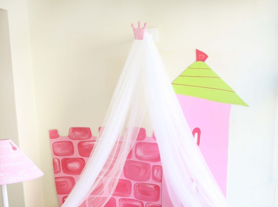 Princess Bed Canopy Bed Canopy For Girls Bed Tent Kids Bed Etsy