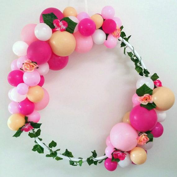 Globo marco garland guirnalda hula aro diy kit magenta rosa | Etsy