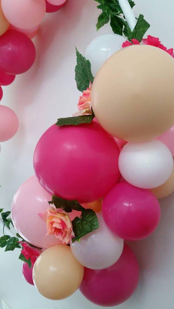 Ballon Rahmen Girlande Kranz Hula Reifen Bausatz Magenta pink