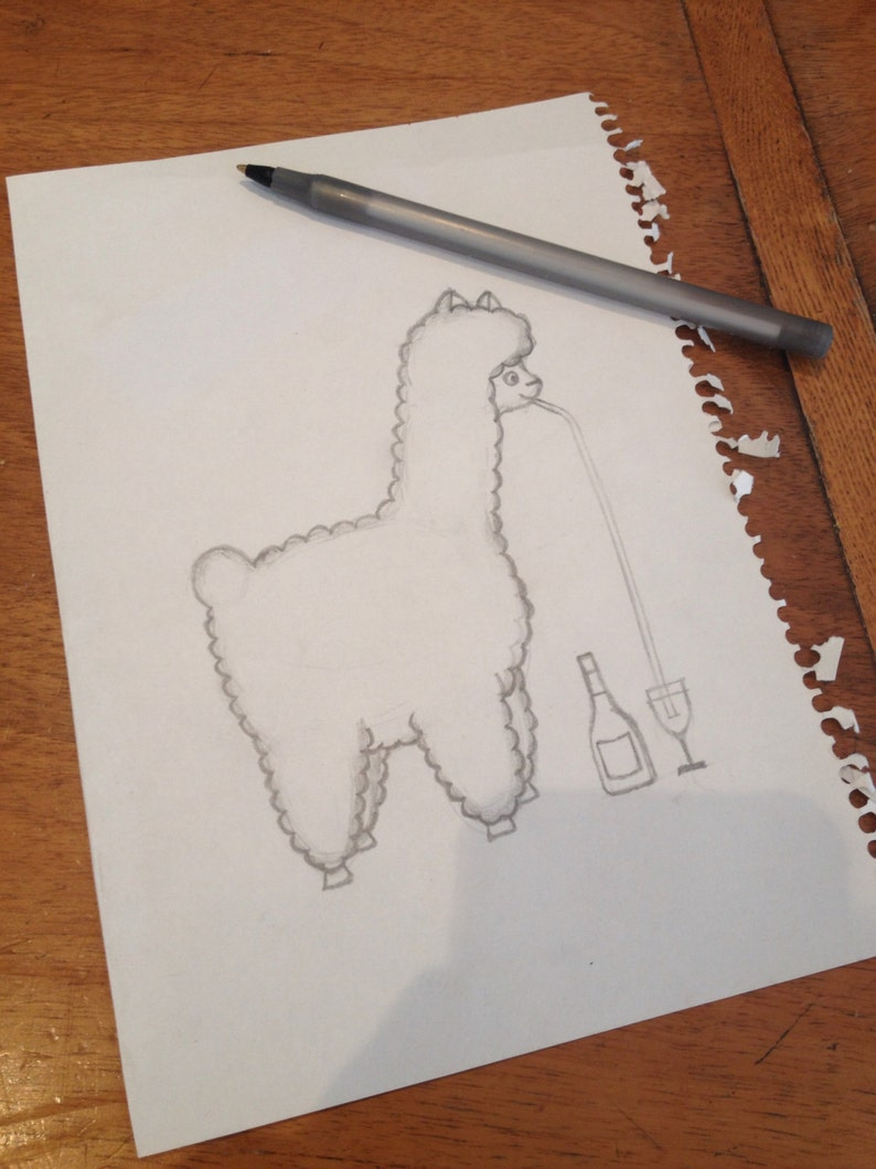 Alpaca Gin Ethically Produced Eco Tote Bag