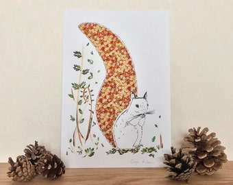 In the Woods Suzy the Squirrel Giclee Print