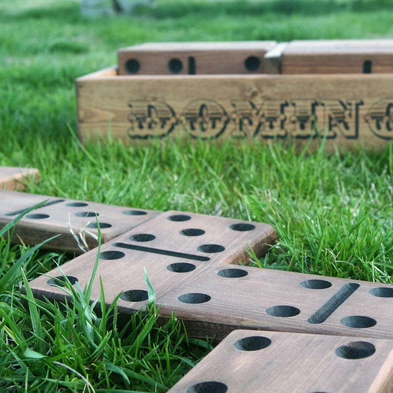 Yard Dominoes  Outdoor Games  Yard Games  Wood Yard Games  image 0