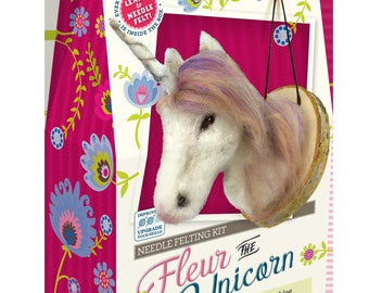 Fleur the Unicorn Needle Felting Kit