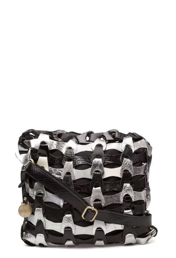 96105d77fd Black Silver Style Aida The smaller braided leather bag from