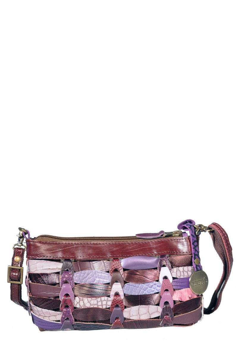 cc8c6def82 Purple Style Elfa Smaller braided leather shoulder bag in