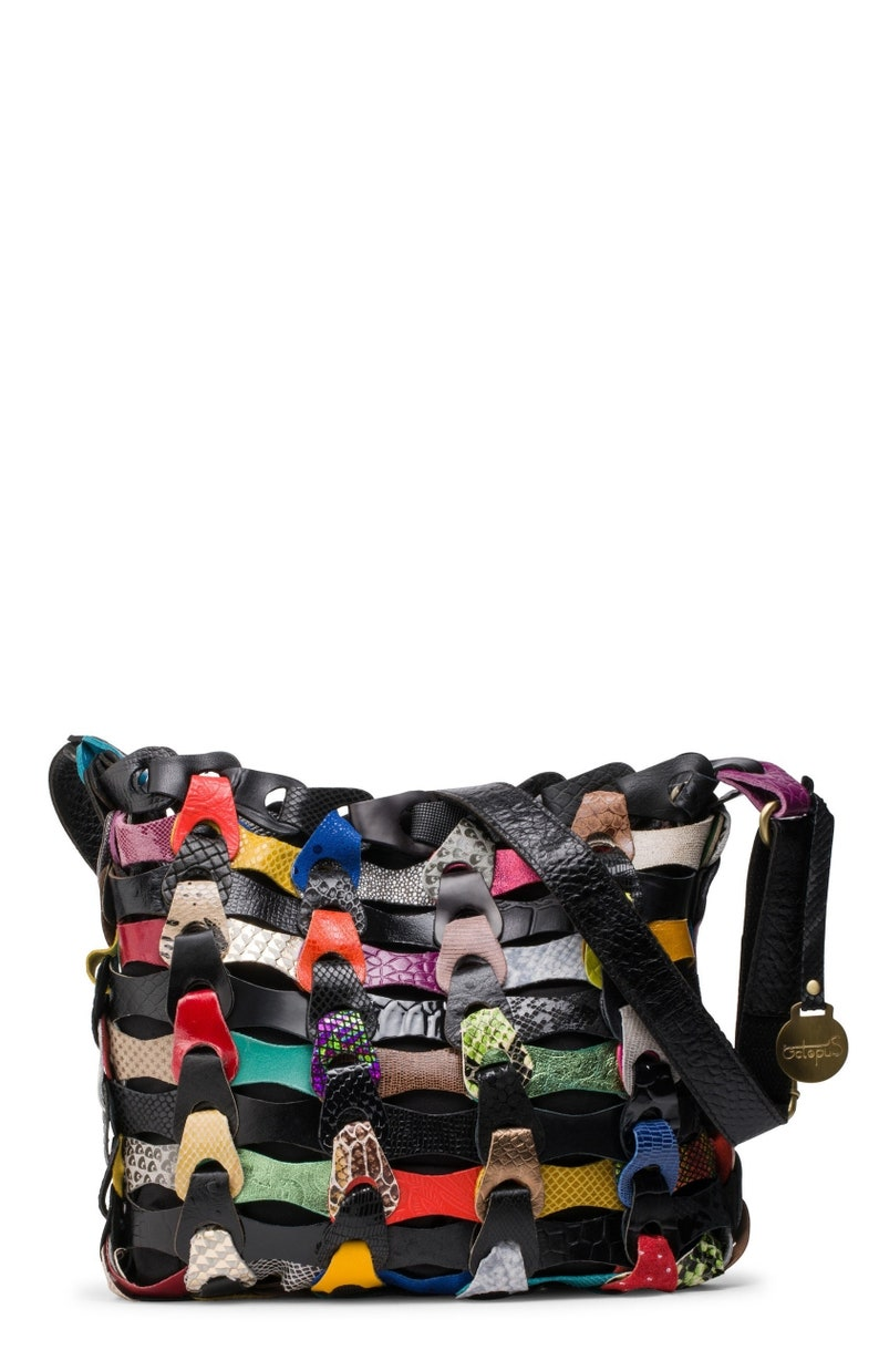 ca81495d08 Black Multi Style Aida The smaller braided leather bag from