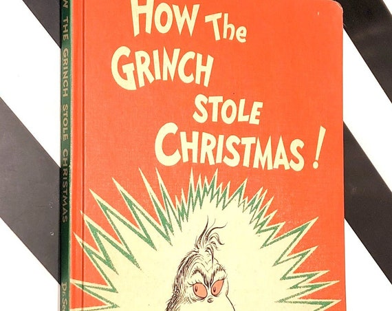 How the Grinch Stole Christmas by Dr. Seuss (1957) hardcover book