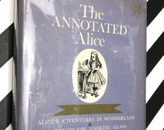The Annotated Alice by Lewis Carroll, edited by Martin Gardner (1960) hardcover book