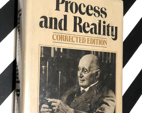 Process and Reality by Alfred North Whitehead (1978) hardcover book