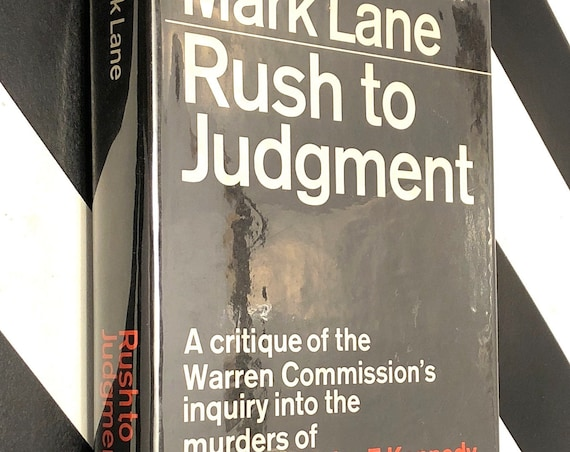 Rush to Judgment by Mark Lane (1966) hardcover book