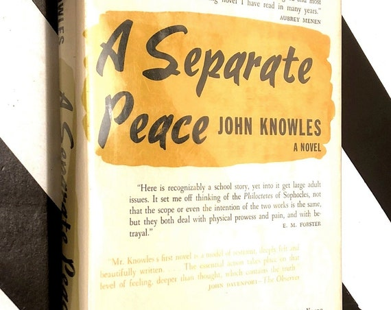 A Separate Peace by John Knowles (1960) hardcover book