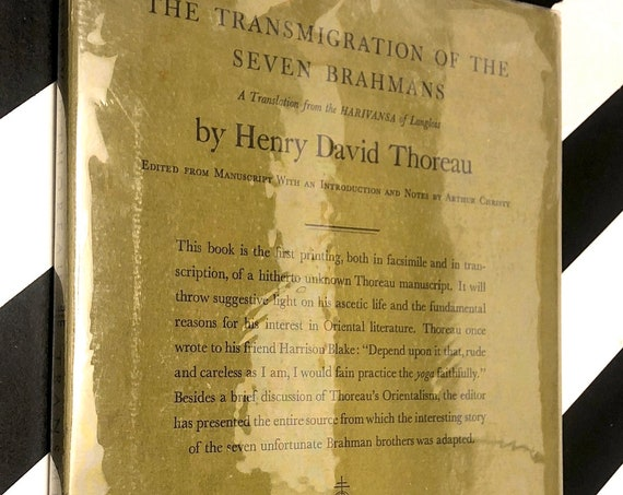 The Transmigration of the Seven Brahmans by Henry David Thoreau (1932) first edition book
