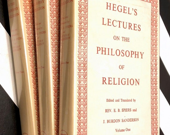 Hegel's Lectures on the Philosophy of Religion with a Work on the Proofs of the Existence of God (1968) hardcover book in three volumes