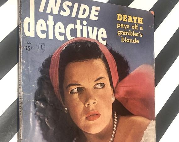 Inside Detective vintage magazine / January 1949