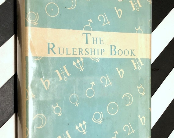 The Rulership Book: A Directory of Astrological Correspondences by Rex E. Bills (1971) hardcover book