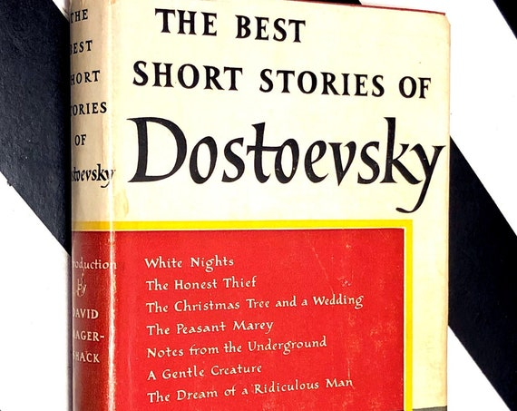 The Best Short Stories of Dostoevsky (1955) hardcover Modern Library book