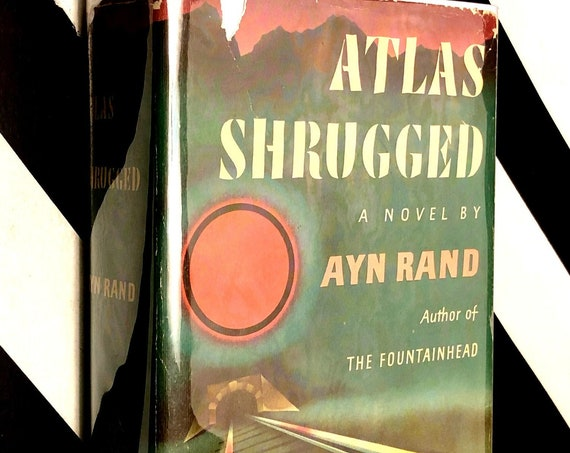 Atlas Shrugged: A Novel by Ayn Rand (1957) hardcover book