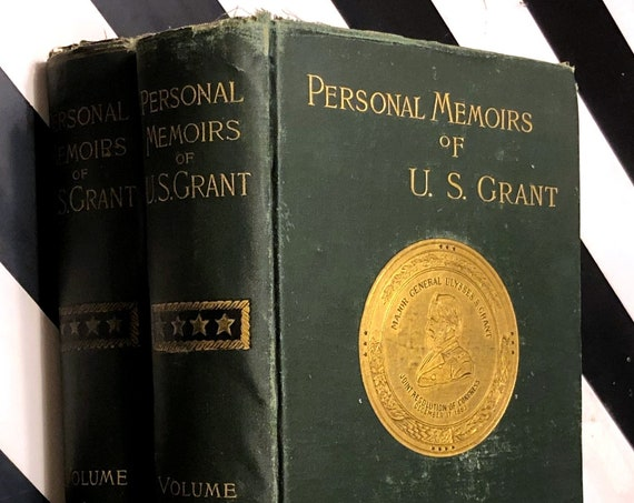 Personal Memoirs of Ulysses S. Grant (1885) first edition book in two volumes