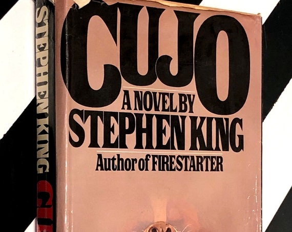 Cujo: A Novel by Stephen King (1981) hardcover first edition book