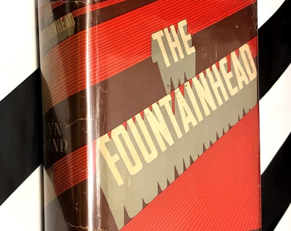 The Fountainhead by Ayn Rand (1943) hardcover book