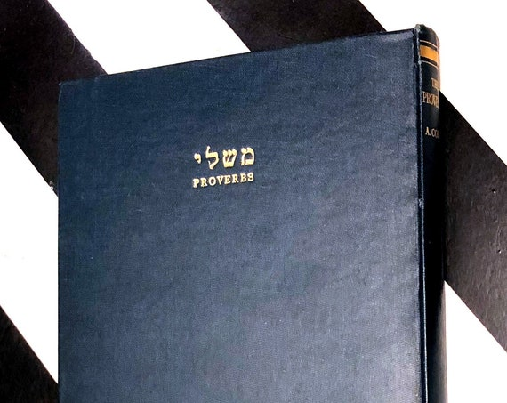 Proverbs: Hebrew Text and English Translation by Dr. A. Cohen (1945) first edition book