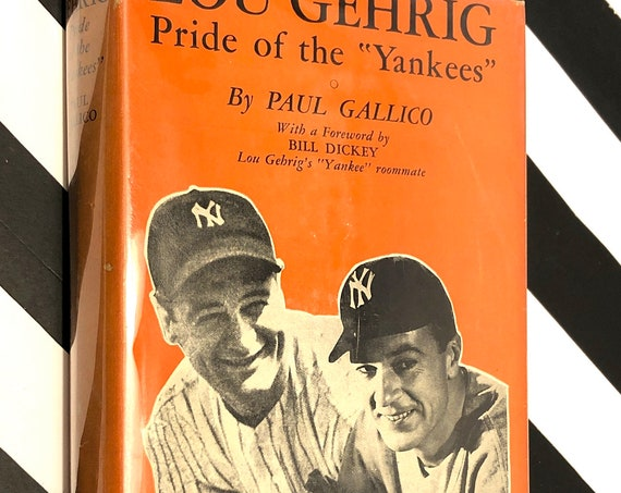 Lou Gehrig, Pride of the Yankees by Paul Gallico (1942) first edition book