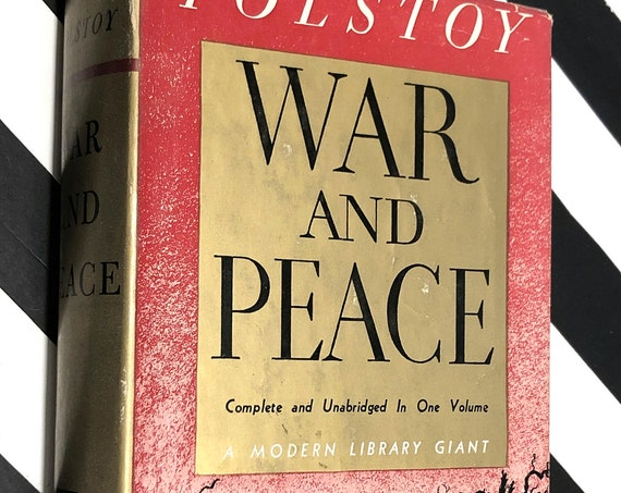 War and Peace by Leo Tolstoy (1931) Modern Library hardcover book