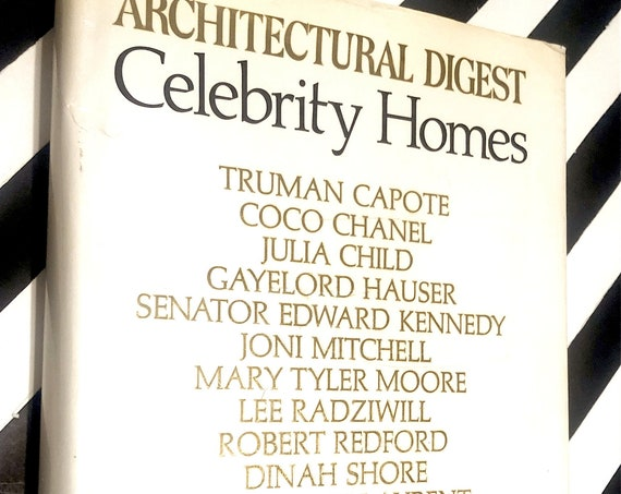 Architectural Digest Celebrity Homes (1977) first edition book