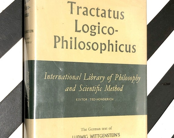Tractatus Logico-Philosophicus by Ludwig Wittgenstein (1922) hardcover book