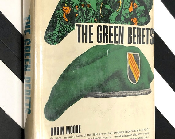 The Green Berets by Robin Moore (1965) hardcover book