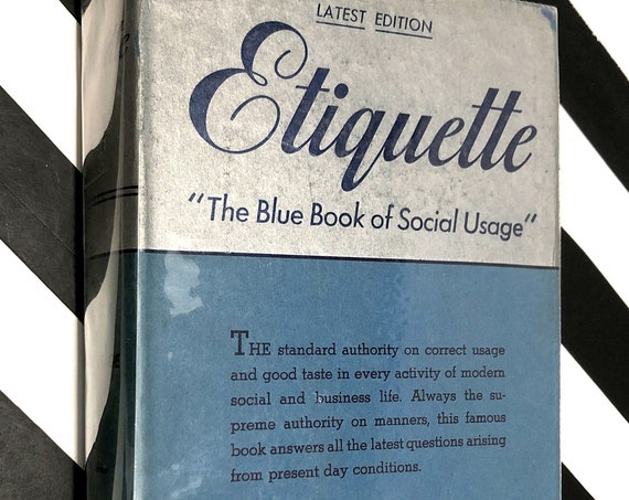 Emily Post's Etiquette: The Blue Book of Social Usage (1947) hardcover book