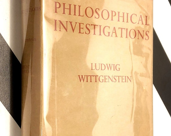 Philosophical Investigations by Ludwig Wittgenstein (1958) hardcover book
