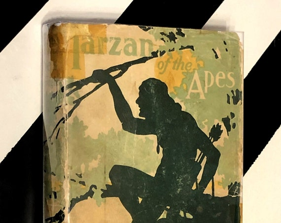 Tarzan of the Apes by Edgar Rice Burroughs (1914) hardcover book