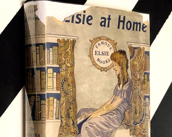 Elsie at Home by Martha Finley (1920s) hardcover book