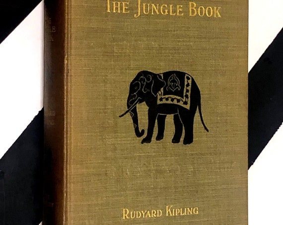 The Jungle Book by Rudyard Kipling (1912) hardcover book
