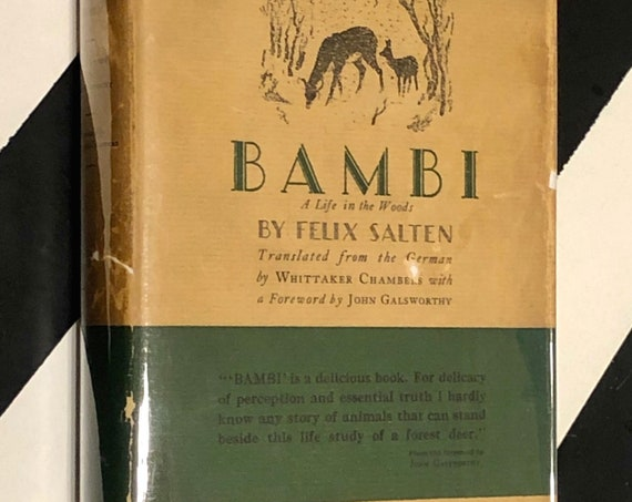 Bambi: A Life in the Woods by Felix Salten translated by Whittaker Chambers (1928) hardcover first edition book