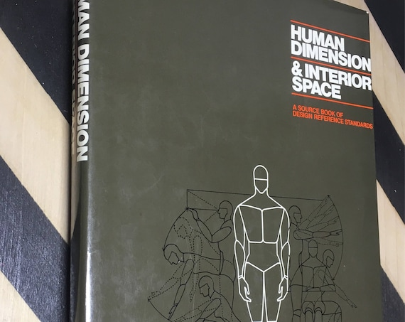 Human Dimension & Interior Space by Julius Panero, aia, asid and Martin Zelnik, aia, asid (Hardcover, 1979) vintage book