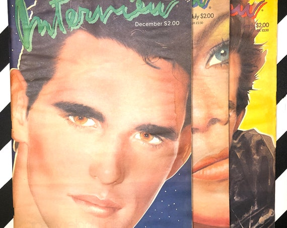 Interview Magazine - 3 issues - Matt Dillon / Kathleen Turner / Mickey Rourke (1983)