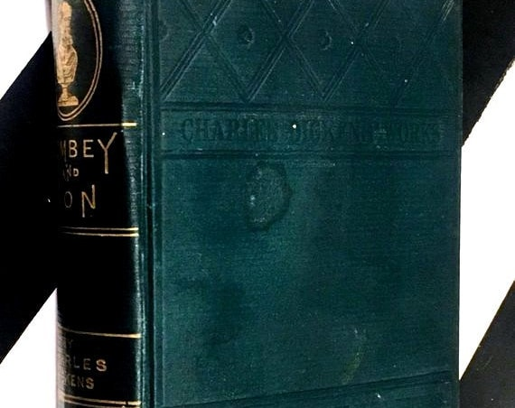 Dombey and Son by Charles Dickens (1880) hardcover book