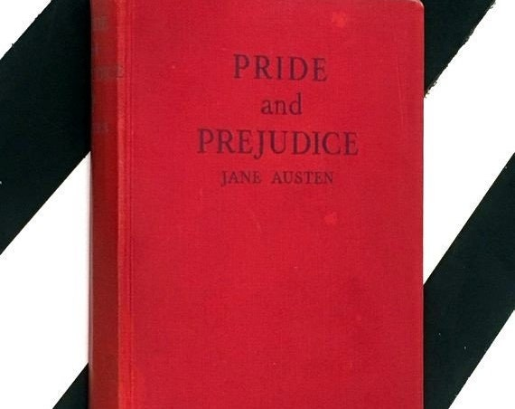 Pride and Prejudice by Jane Austen (undated) red hardcover book