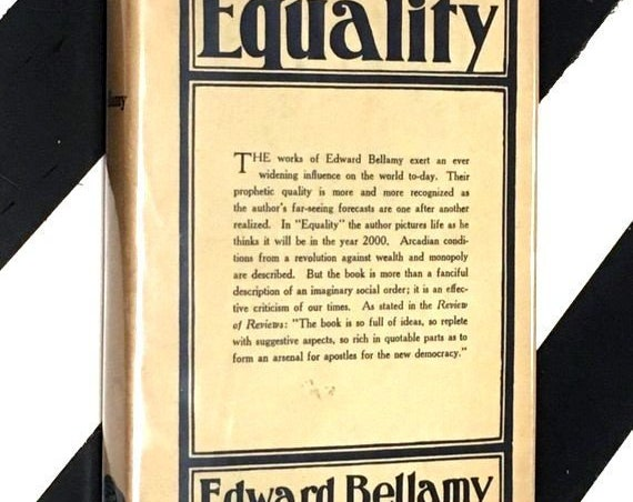 Equality by Edward Bellamy (1924) hardcover book