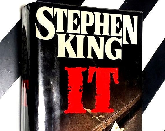 It by Stephen King (1986) hardcover first edition book