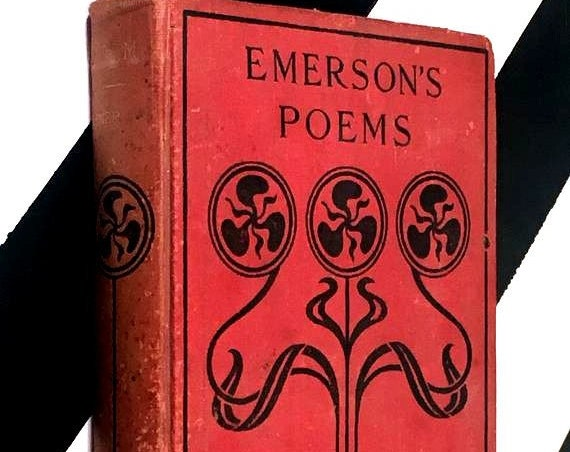 Poems by Ralph Waldo Emerson (no date) hardcover book