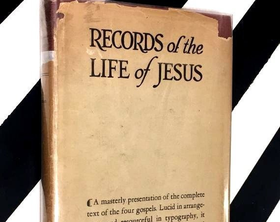 Records of the Life of Jesus by Henry Burton Sharman, Ph.D. (1917) hardcover book