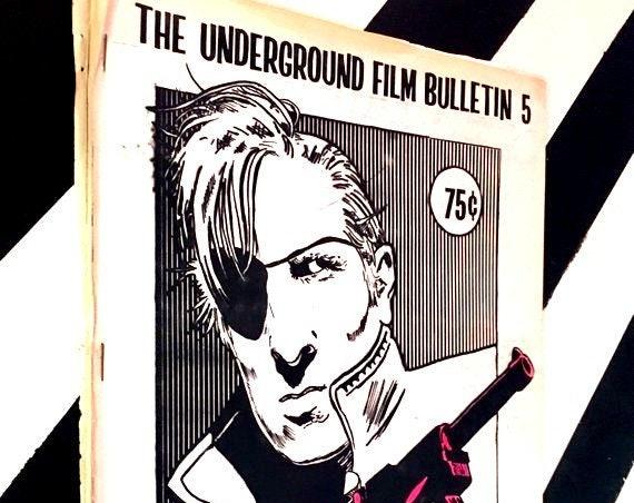The Underground Film Bulletin 5 (1980s era) softcover stapled zine